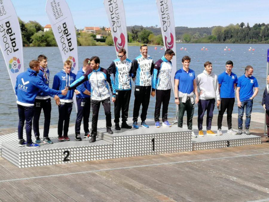 El K4 del FLUVIAL se impone en la final de la Copa de España Sprint Olímpico en Trasona