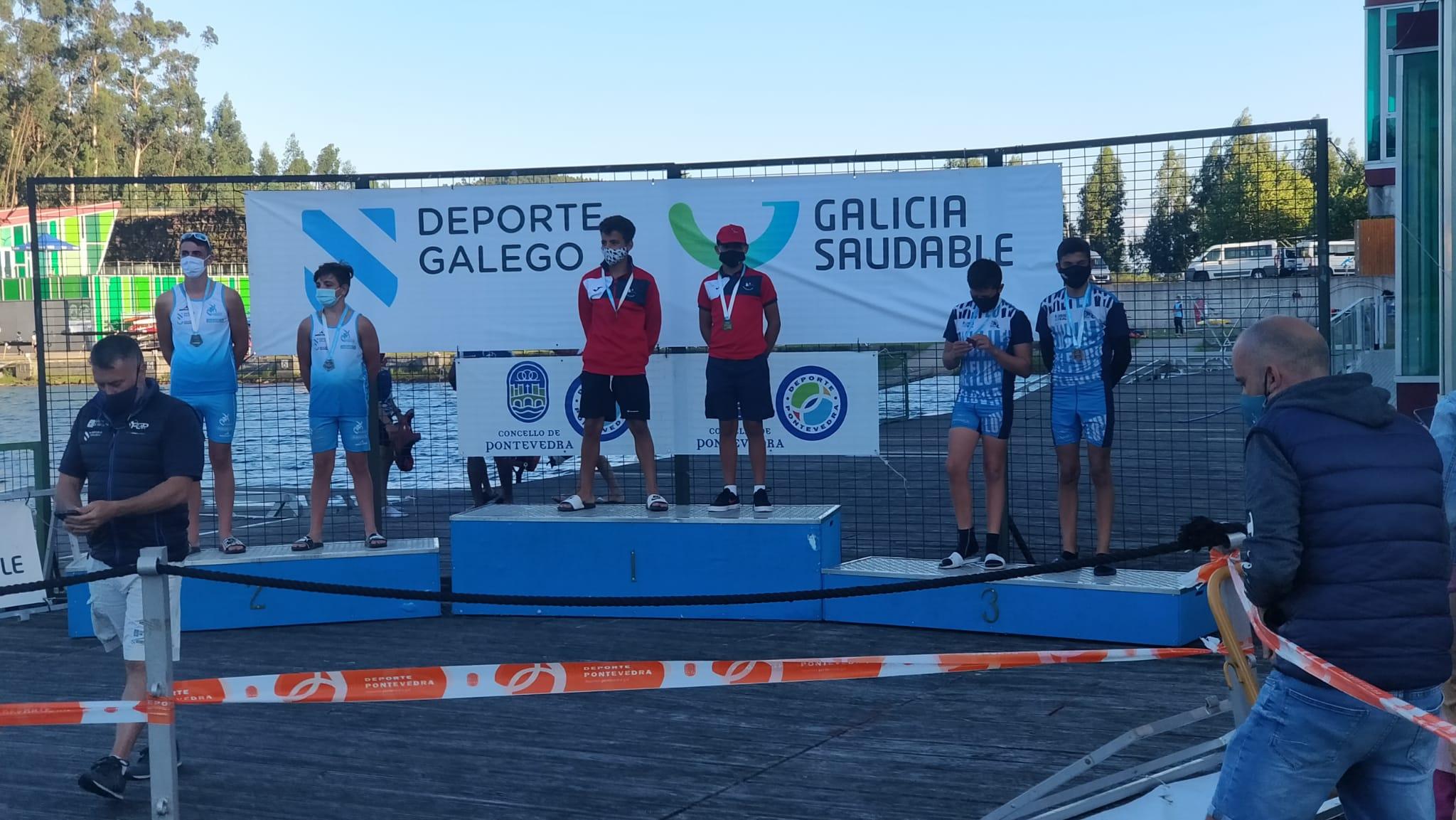 Los infantiles del Fluvial logran tres podios en el Campeonato Gallego Sprint de piragüismo