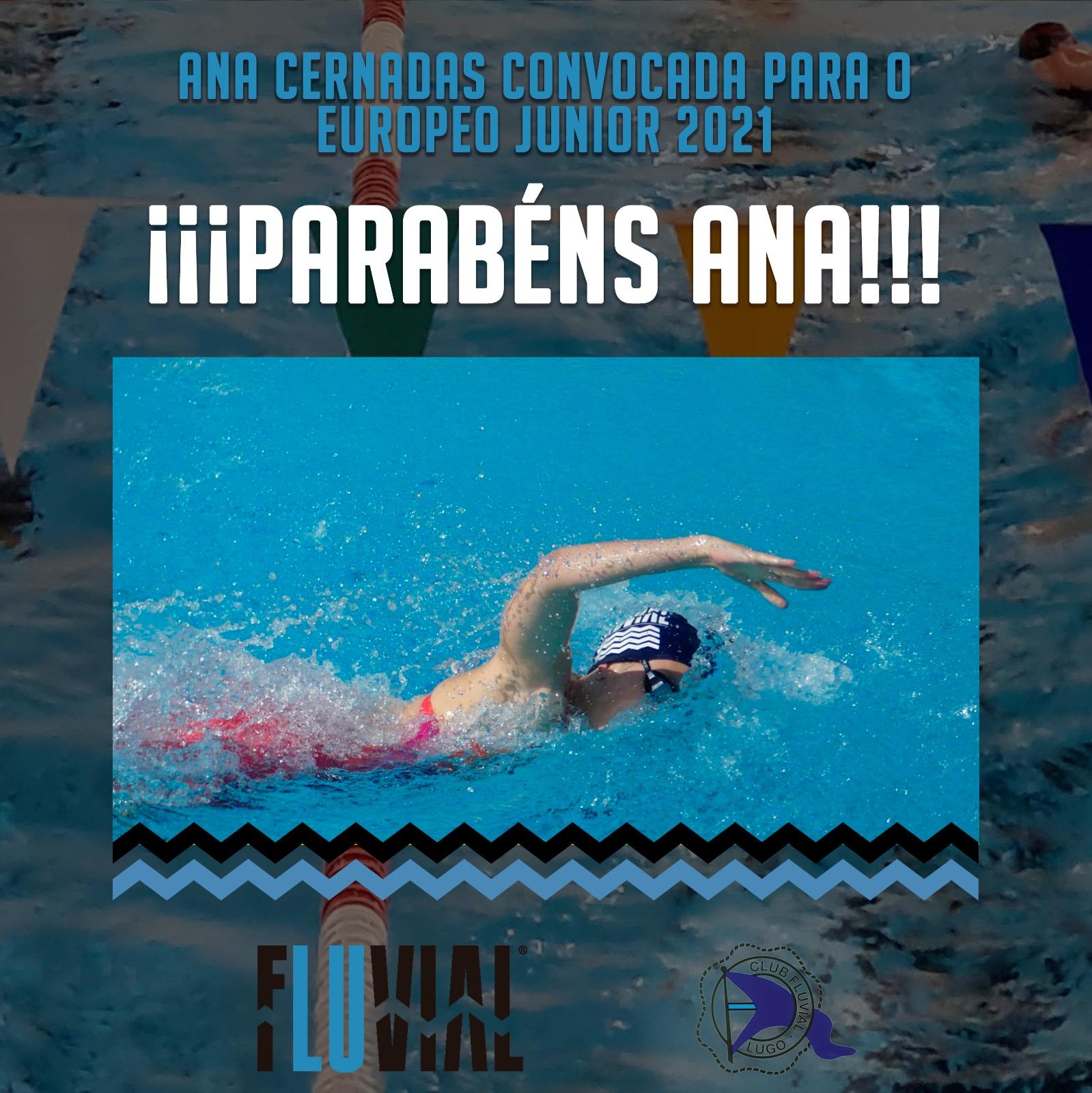 Ana Cernandas Convocada pola Fed.Española de Natación para o Campeonato de Europa Junior