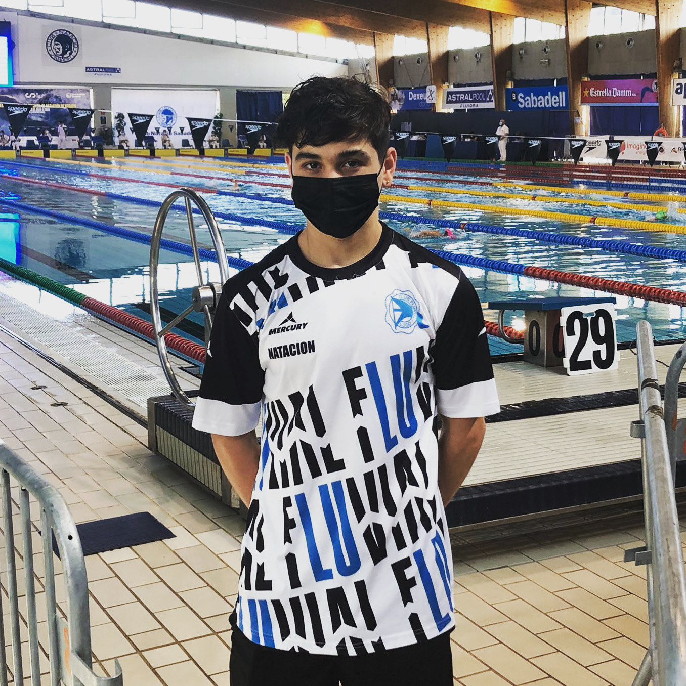 Ander Gomez del Fluvial de Lugo 4º en 200m estilos en el Campeonato de España Infantil de Natación