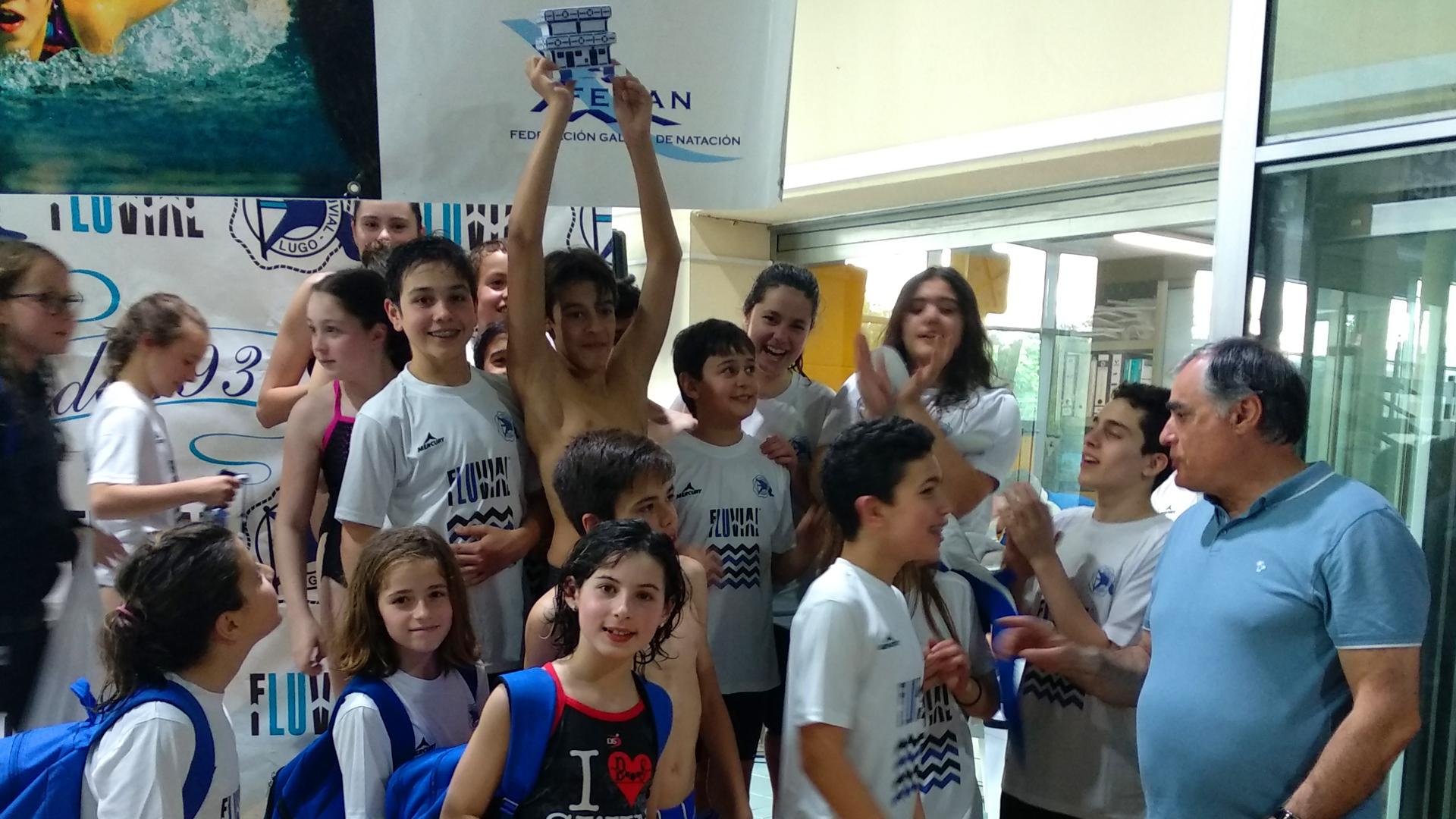 El fluvial logra el tercer puesto en la clasificación por clubes en el Cidade de Lugo de Natación