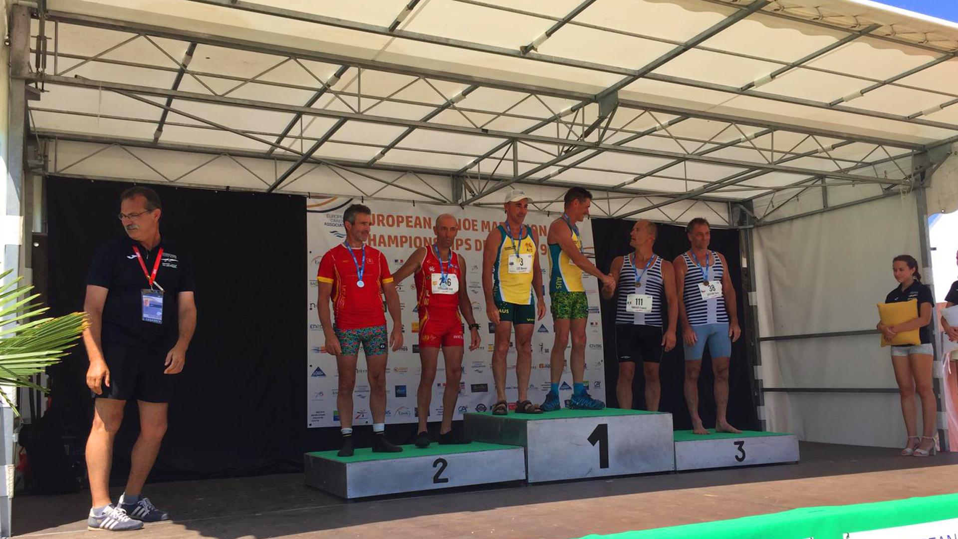 Un Oro y Cuatro Platas en el Europeo Máster de Maratón
