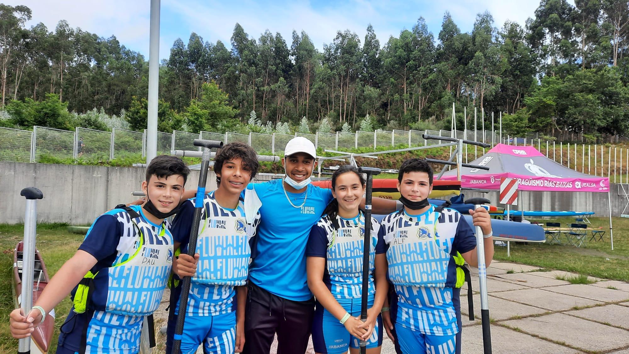 Excelentes resultados de nuestros palistas en el Campeonato Gallego Infantil de Piragüismo